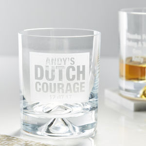 Personalised Dutch Courage Whiskey Glass - drinks connoisseur