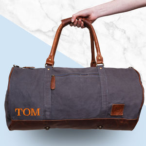 Personalised Canvas Classic Duffle Bag - gifts for teenage boys