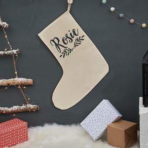 Personalised Christmas Laurel Stocking - christmas