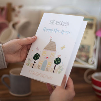 Personalised New Home Congratulations Card