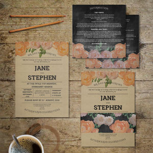 Vintage Nostalgia Wedding Invitation