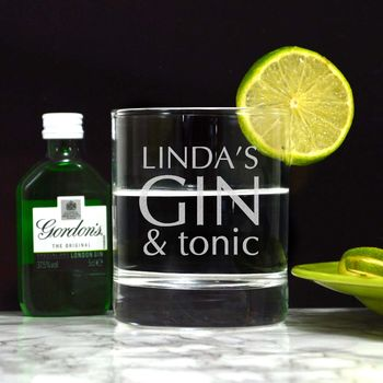 Personalised Gin Tumbler Glass