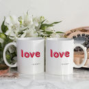 Mr And Mrs 'Love' China Mug Set With Couples Names