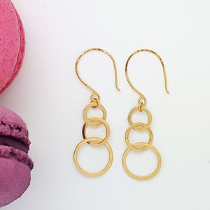 Triple Circle Hook Earrings