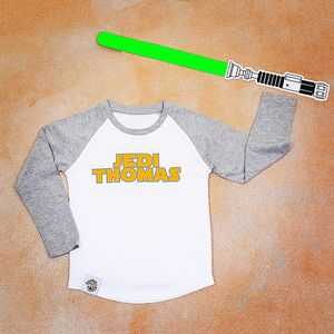 Personalised Jedi Baseball Shirt