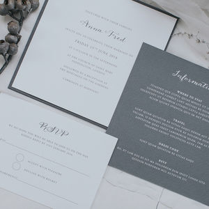 Anna Wedding Invitation Set - invitations