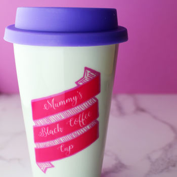 Personalised Ribbon Travel Mug