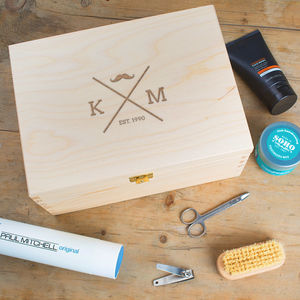 Personalised Male Grooming Box - summer sale