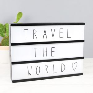 A4 Wooden LED Light Box With Letters - children's lighting