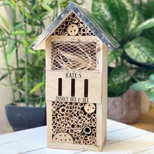 Personalised Garden Bee And Bug Hotel