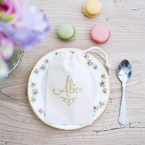 Personalised Classic Wedding Table Place Setting - wedding favours