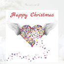 Angel Wings Christmas Card, Butterfly Christmas Card