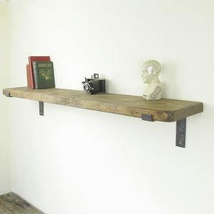 Natural Timber Industrial Shelf - shelves
