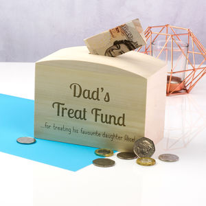 Personalised Dads Treat Fund Money Box