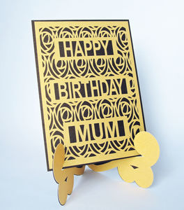 Personalised Stand Up Easel Die Cut Birthday Card - birthday cards