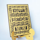 Personalised Stand Up Easel Die Cut Birthday Card