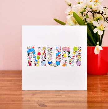 mums things card for mothers day or mums birthday