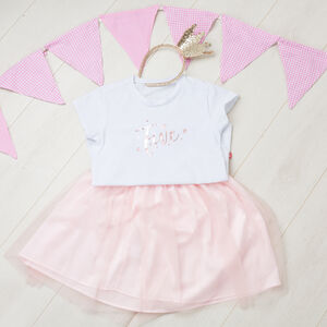 Personalised Birthday T Shirt And Tutu Set