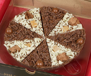 Double Delight Chocolate Pizza - chocolates & truffles