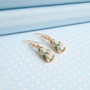 Gold Plated Snowdrop Earrings