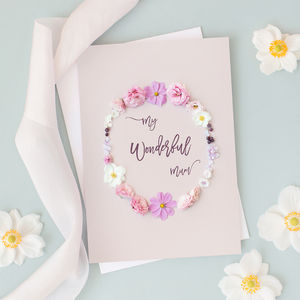 'My Wonderful Mum' Card - birthday cards