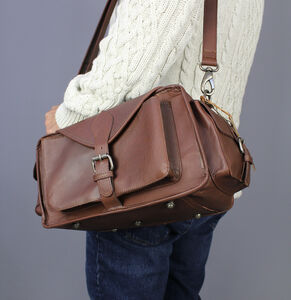 Leather Camera Bag With Personalisation