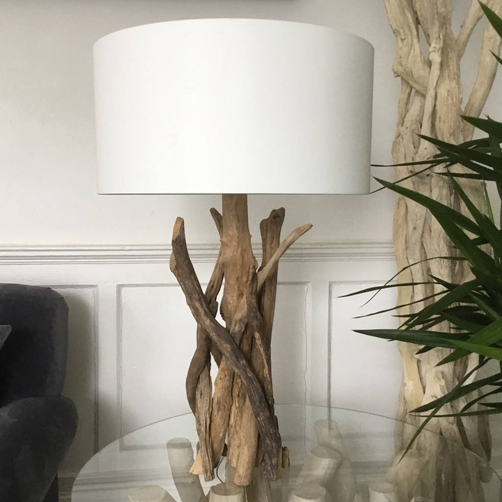 Branched driftwood table lamps by doris brixham notonthehighstreet medium natural lamp mozeypictures Gallery