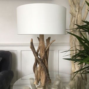 Branched Driftwood Table Lamps