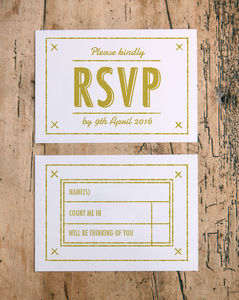 Summer Camp Wedding RSVP Cards - invitations