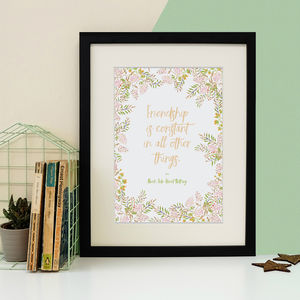 Shakespeare Friendship Quote Print