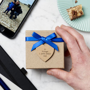Personalised 10 Things I Love About Dad Box