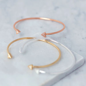 Art Deco Delicate Cuff Bangle - personalised