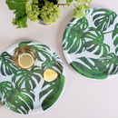 Tropical Leaf Melamine Tray