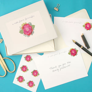 Personalised Flower Writing Set - notelets