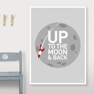 Up To The Moon And Back Print