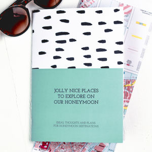 Jolly Nice Places To Explore On Honeymoon Notebook - best wedding gifts