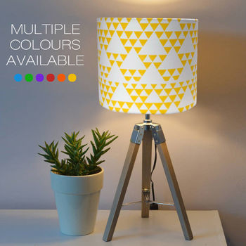 yellow patterned lampshade