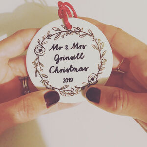 Mr And Mrs First Christmas Ceramic Decoration