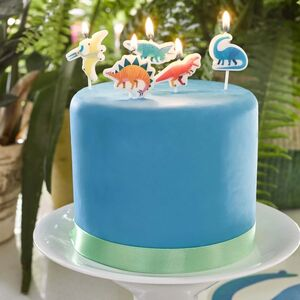 Dinosaur Birthday Cake Candles: Two Packs Of Five