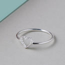 Sterling Silver Tiny Open Heart Ring