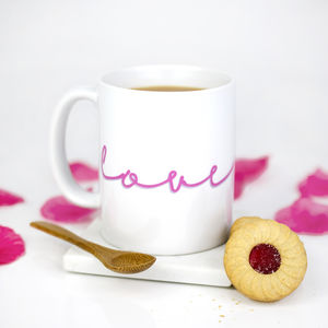 'Love' Neon Sign Ceramic Mug