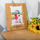 Personalised Grandchildren Bamboo Photo Board