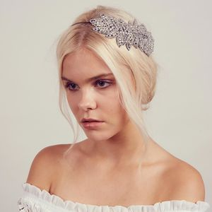 Iona Rhinestone Halo Headband - celestial wedding