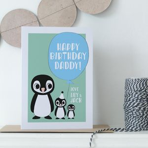 Personalised Daddy Or Mummy Parent's Birthday Card - birthday cards