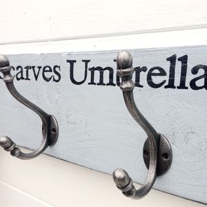 Personalised Vintage Style Acorn Coat Hooks - bedroom