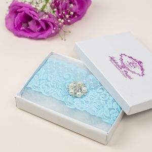 Lace Simply Lace Something Blue Bridal Garter - styling your day sale