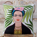 Hand Embroidered Frida Kahlo Cushion