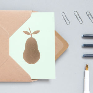 Luxury Pear Print Card
