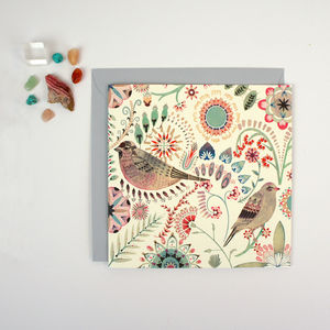 Greeting Card Eudaimonia Birds