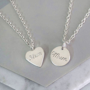 Sterling Silver Tiny Mum Charm Necklace - what's new